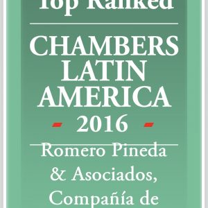 ROMERO PINEDA & ASOCIADOS RANKINGS BY CHAMBERS & PARTNERS
