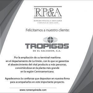 AMPLIACIÓN DE TERMINAL MARITINA DE NUESTRO CLIENTE TROPIGAS