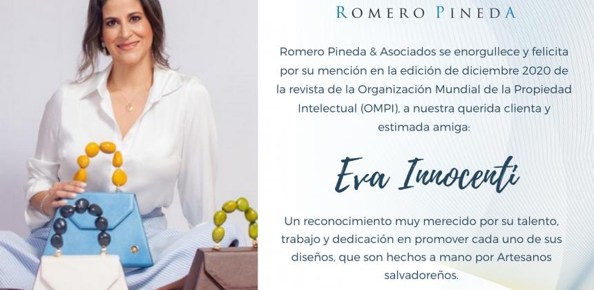 Nuestra cliente Eva Innocenti reconocida en WIPO